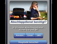 Mobil optimierte Webseite für Abschleppdienste