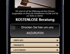 Mobil optimierte Vorlage für Anwälte