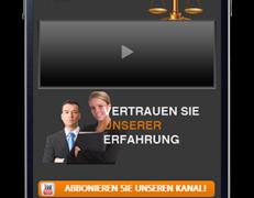Mobile Webseite für Anwaltskanzlei