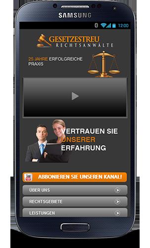 Mobile Webseite für Anwaltskanzleien - Mobop