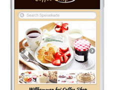 Mobile Webseite für Kaffeeshops und Café