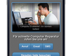 Komplette mobile Webseite für Computer Reparatur Dienste