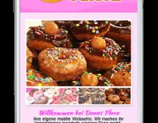 Mobile Webseite für Donut- & Cupcake-Shops