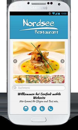 Mobop Fischrestaurant mobile webseite