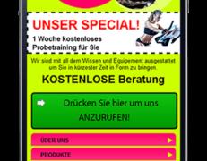Mobile Webseite für Fitness- & Sportstudios