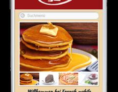 Mobile Webseite für französische Restaurants