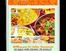 Mobile Webseite für indische Restaurants