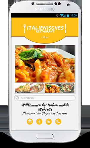 MobopItalienisches Restaurant mobile Webseite