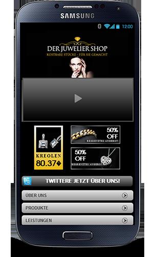 Mobop Juwelier mobile Webseite