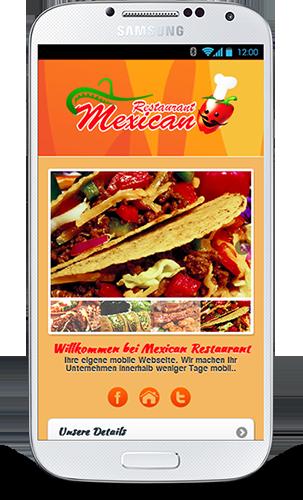 Mobop Mexikanisches Restaurant mobile Webseite
