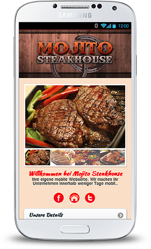 Mobop Steakhouse mobile Webseite