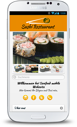 Mobop Sushi Restaurant mobile Webseite