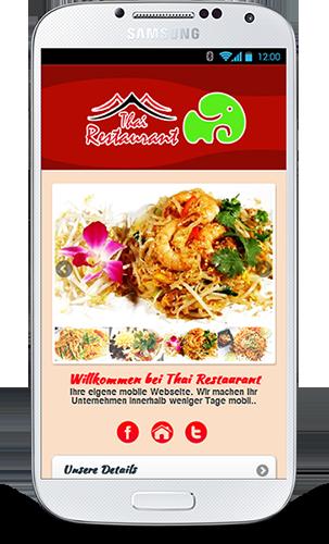 Mobop Thai Restaurant mobile Webseite